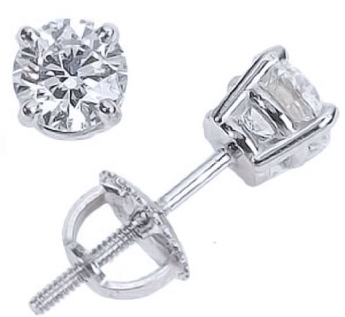 Diamond Earrings 1 1/2 carat